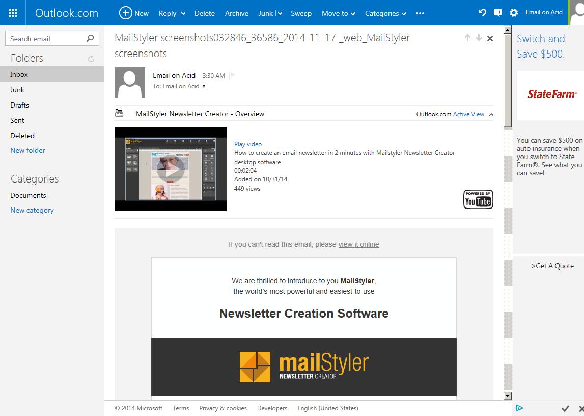 Kompatibilitäts-Check einer Newsletter-Vorlage - Newsletter Creator