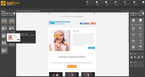 Mailstyler Newsletter Creator - Domovská obrazovka