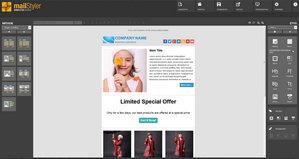 Mailstyler Newsletter Creator - Αρχική οθόνη