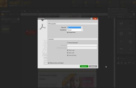 Mailstyler Newsletter Creator - PDF exportieren