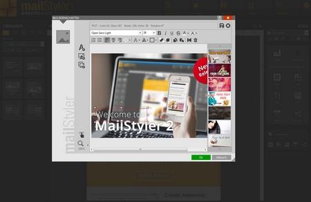 Mailstyler Newsletter Creator - Bildfilter & Schichten