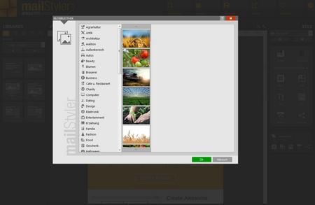 Mailstyler Newsletter Creator - Bilderbibliothek