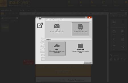 Mailstyler Newsletter Creator - Exportar
