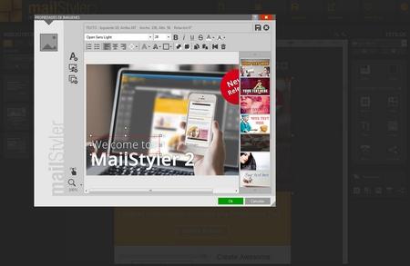 Mailstyler Newsletter Creator - Filtros y capas de imagen