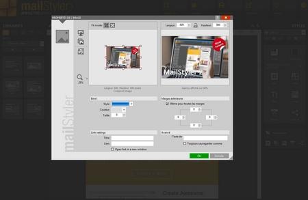 Mailstyler Newsletter Creator - Gestion de l'image