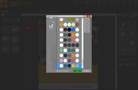 Mailstyler Newsletter Creator - Palettes de couleurs