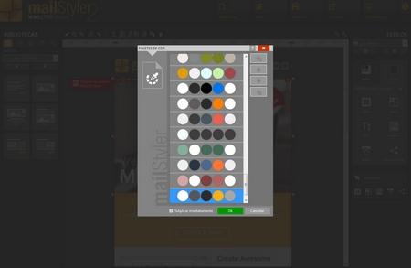 Mailstyler Newsletter Creator - Paletas de cores