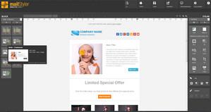 MailStyler Nyhetsbrev Designer - Startskärmen