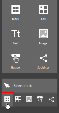 The Block selection button