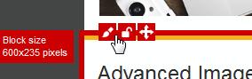 The Block edit icon