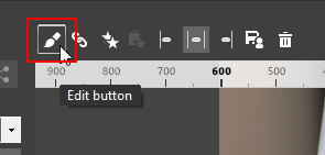 The Button edit button