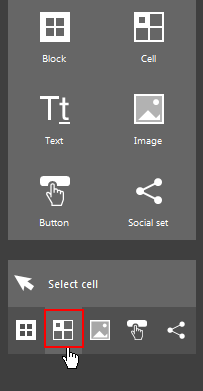 The Cell selection button