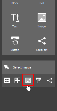 The Image selection button