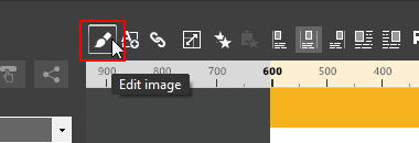 The Image edit button