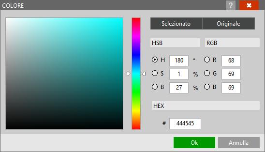 Selezione colori