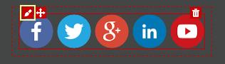Icona Modifica set social