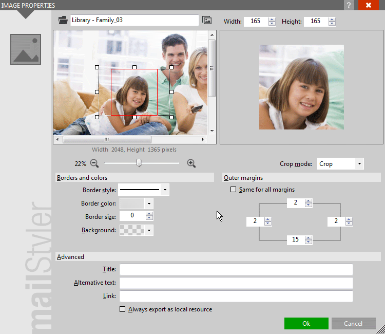 Selecting a detail