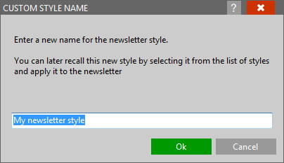 Defining a style name