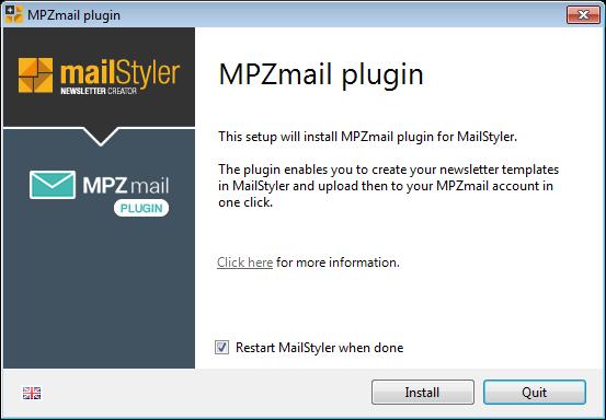 MPZMail plugin setup