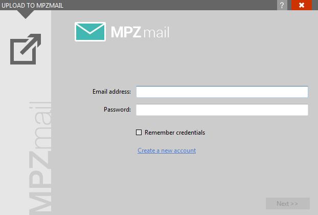 MPZMail plugin login