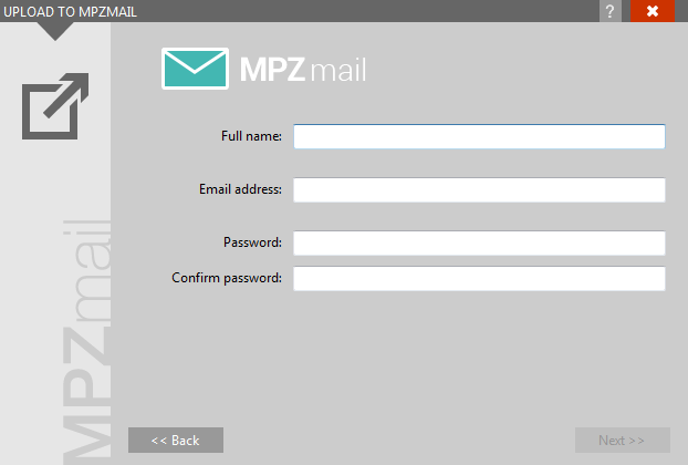 MPZMail plugin new account