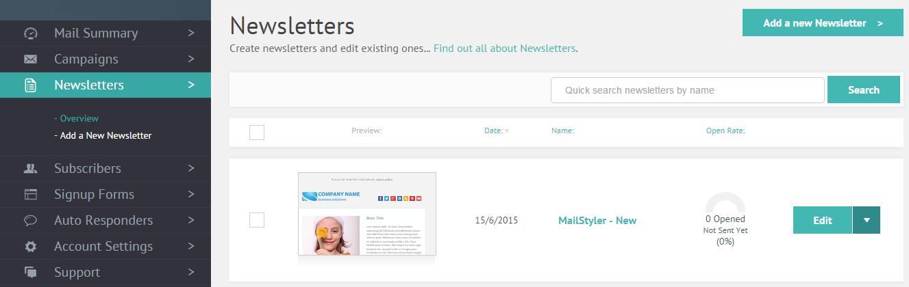 MPZMail Newsletters