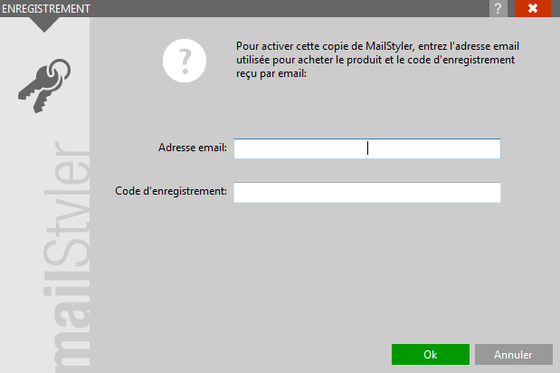 Activation de MailStyler 2