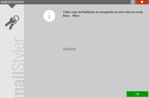 Désactivation MailStyler