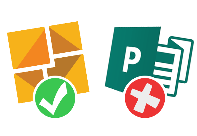 microsoft publisher is a bad bad choice for your newsletter templates