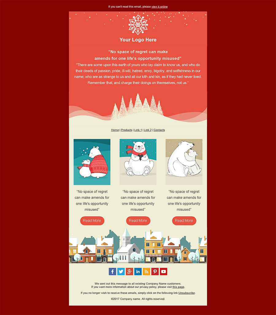 Original Editable With Mailstyler Christmas Email Templates